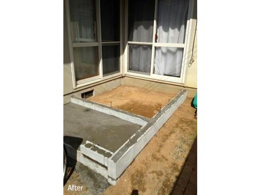玄関スペース増築工事 土台