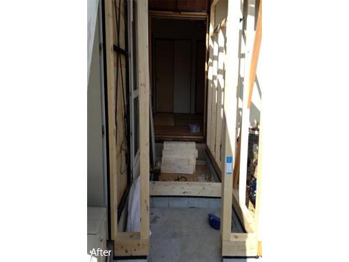 玄関スペース増築工事