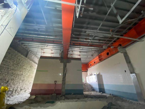 西神中央駅ビルトイレ改修工事 進捗状況